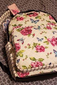 Betsey Johnson butterfly&Roses full size bookbag
